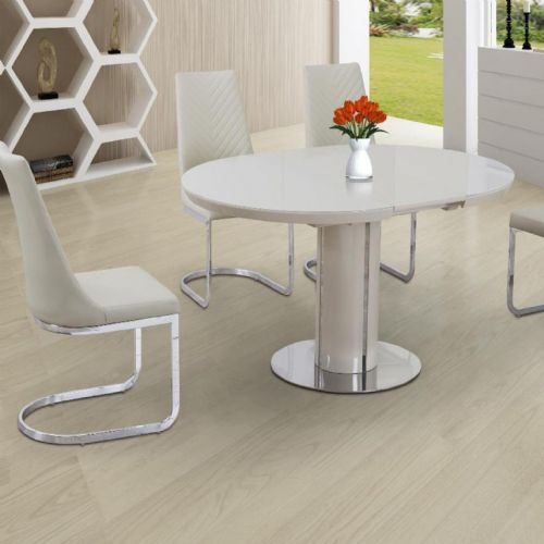 JP DT2135 Dining table 110-150cm(Round/Oval) (Cream)& JP CH6652  Cream Chairs From Jesse plana (1)